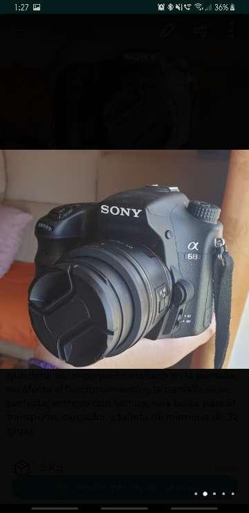 Imagen producto Cámara réflex Sony A68 (Alpha68) con 2 objetivos 2
