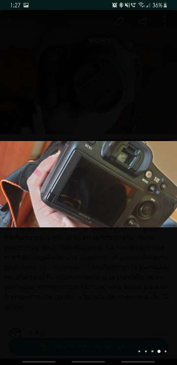 Imagen producto Cámara réflex Sony A68 (Alpha68) con 2 objetivos 3