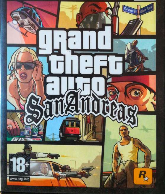 Imagen Grand Theft Auto San Andreas original para ps2.