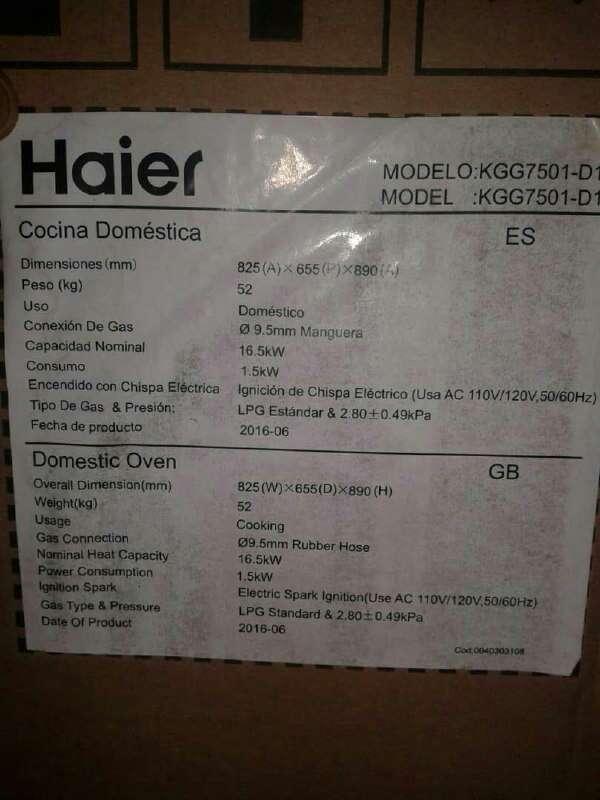 Imagen producto Cocina Haier 6 Hornillas 4