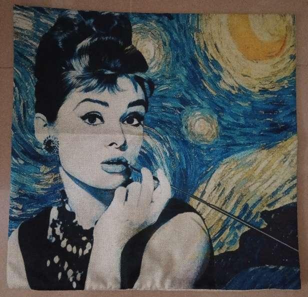 Imagen producto Funda cojin arte Van Gogh Noche Estrellada 2