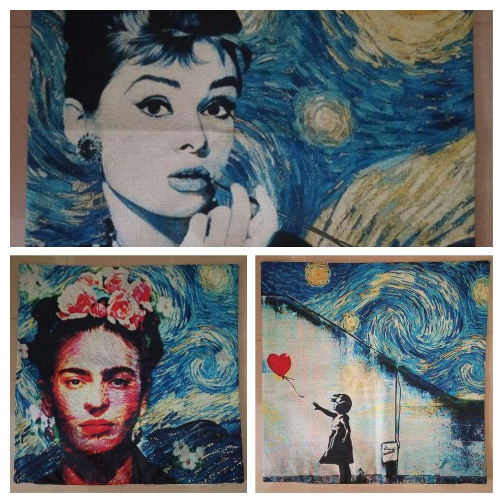 Imagen producto Funda cojin arte Van Gogh Noche Estrellada 1