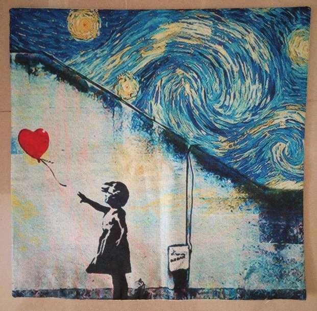 Imagen producto Funda cojin arte Van Gogh Noche Estrellada 4