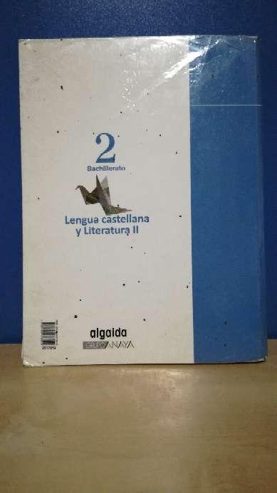 Imagen producto Libro de lengua y literatura 2ºBach algaida 2