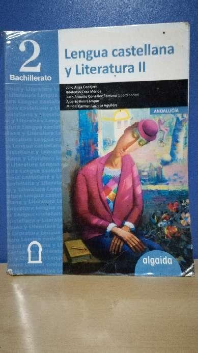 Imagen Libro de lengua y literatura 2ºBach algaida