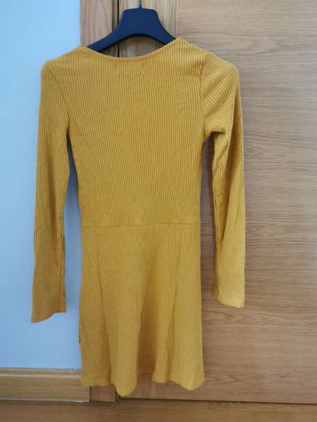 Imagen producto Vestido pana b mostaza bershka t. S 2