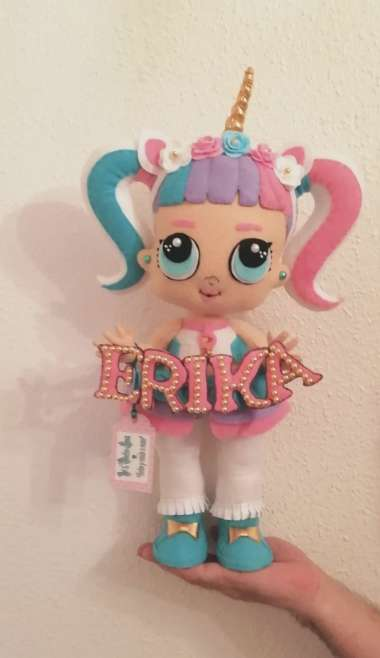 Imagen producto Hago muñecas lol unicornio Personalizadas de 50cm  2