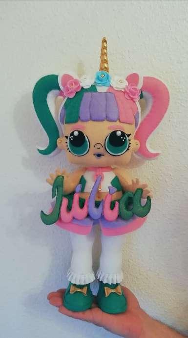 Imagen producto Hago muñecas lol unicornio Personalizadas de 50cm  3