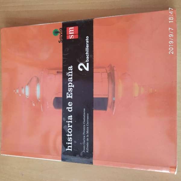 Imagen producto Libro Historia de España SM, 2 Bach 1