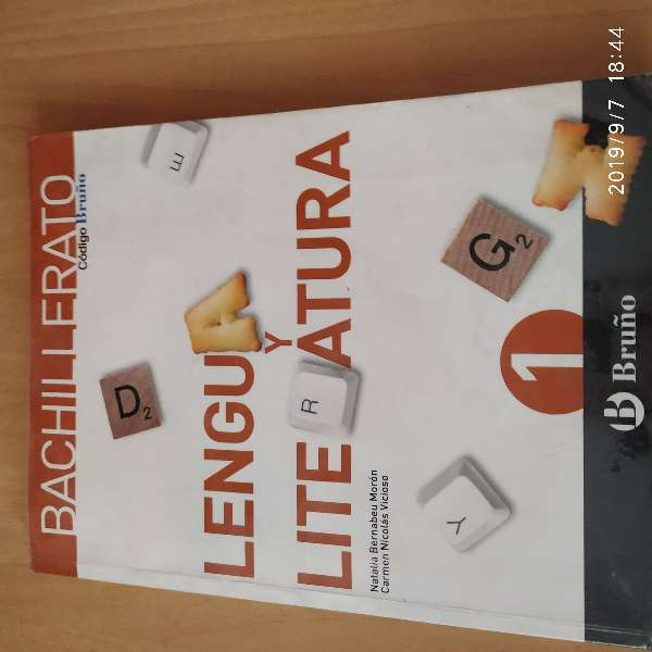 Imagen Libro Lengua, Bruño, 1 Bach