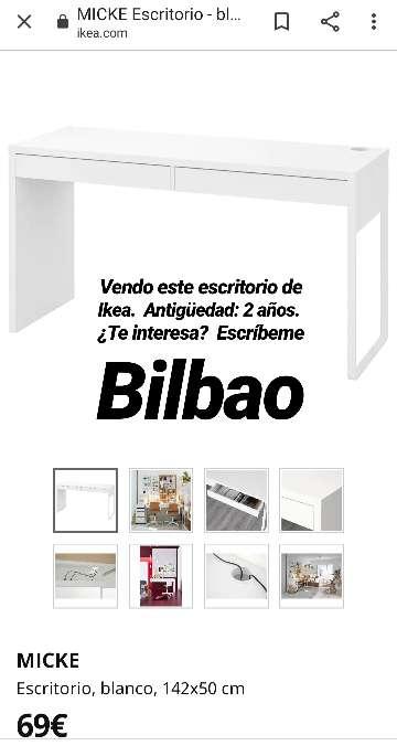 Imagen Escritorio blanco Ikea