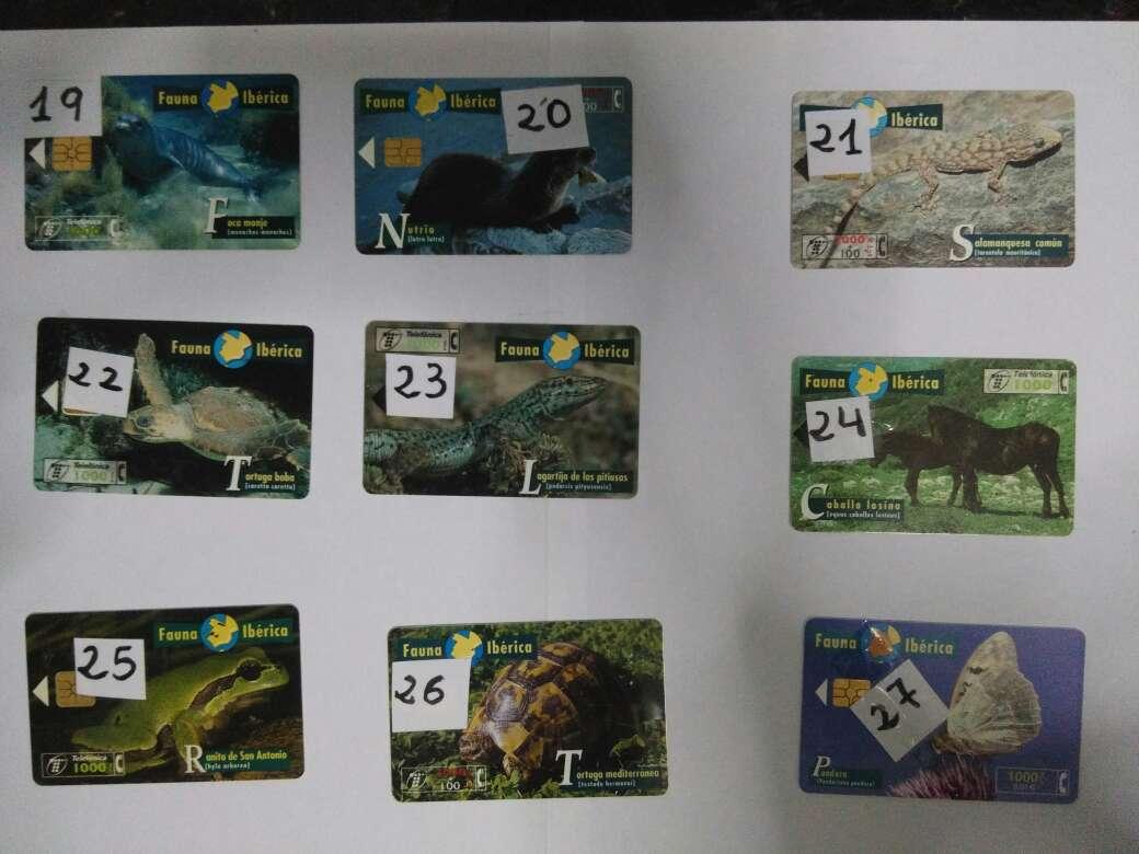 Imagen producto Tarjetas telefónicas fauna  3