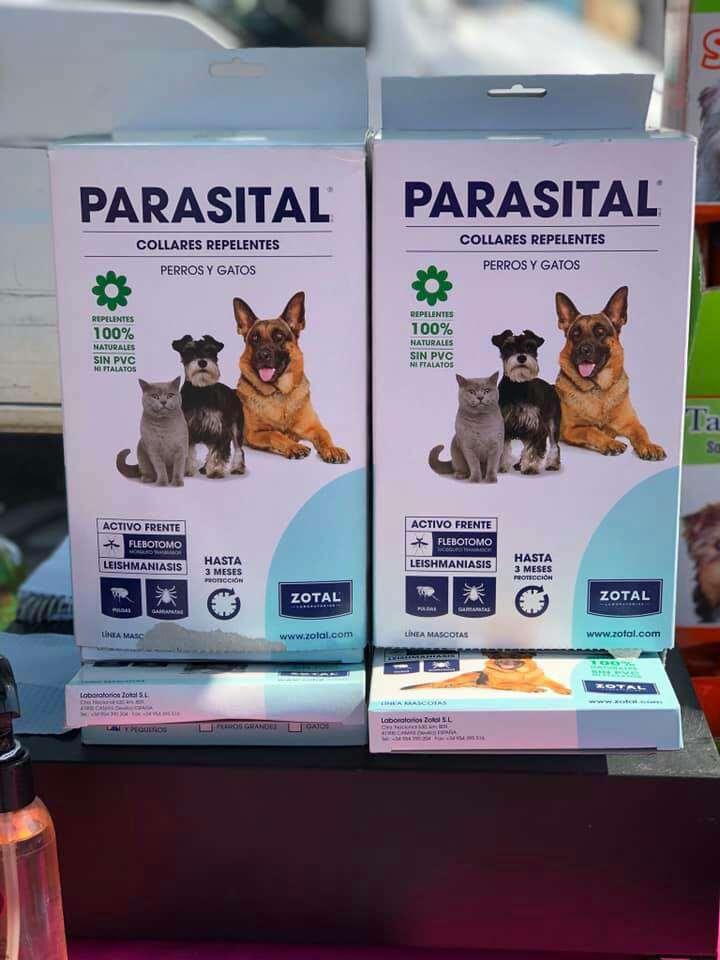 Imagen producto Parasital collar repelente para perros y gatos  1
