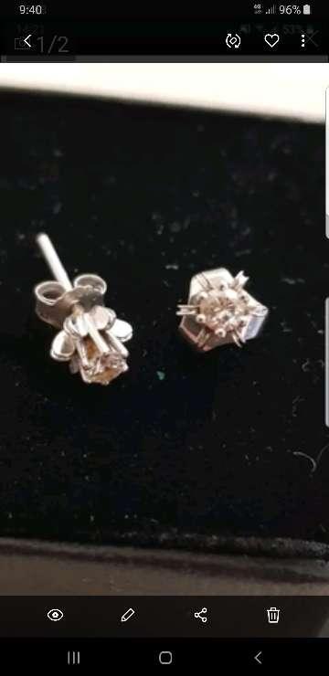 Imagen pendientes oro diamantes