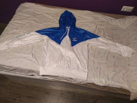 Imagen Chaqueta de Primavera, Adidas, Blu y Blanca, talla M