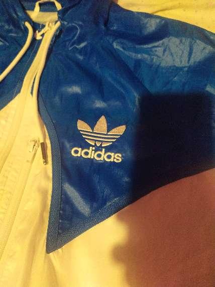 Imagen producto Chaqueta de Primavera, Adidas, Blu y Blanca, talla M  2