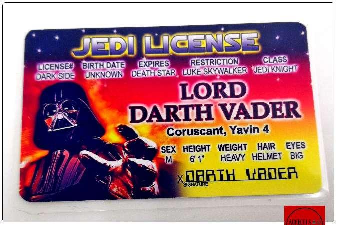 Imagen Acreditación del Darth Vader de Star Wars