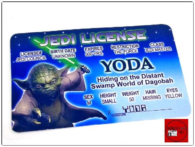 Imagen Acreditación de Yoda de Stear Wars.