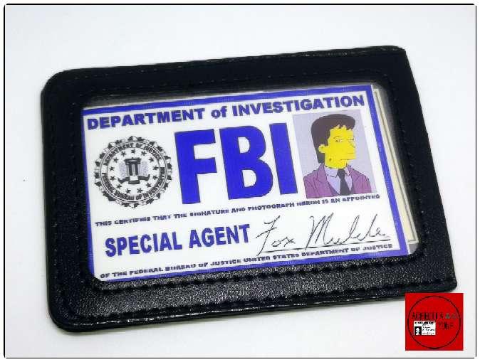 Imagen Acreditación de Mulder Simpsonizado