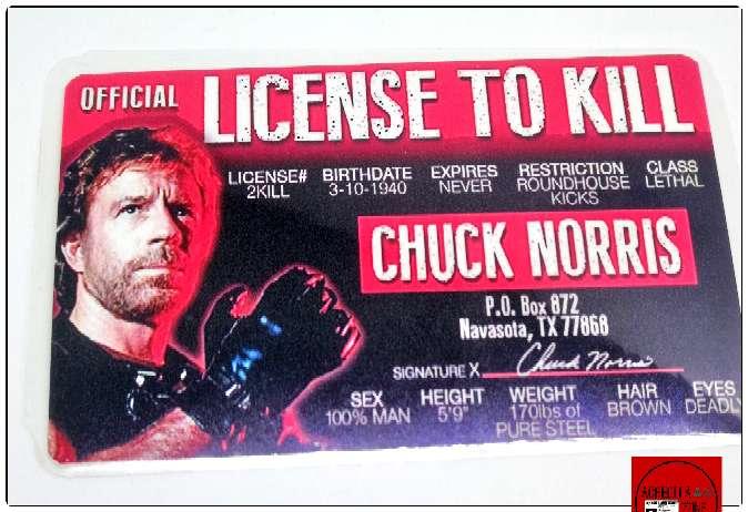 Imagen Licencia Chuck Norris