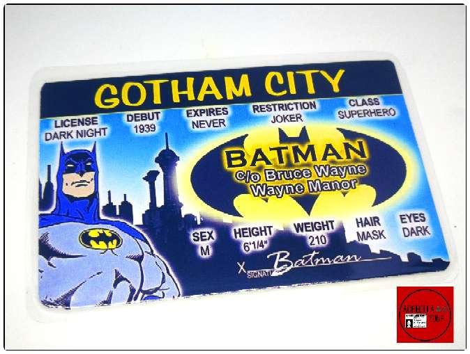 Imagen Acreditaciones de Batman o el Jocker.