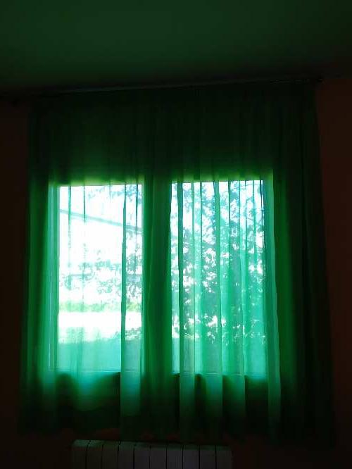 Imagen cortina verde