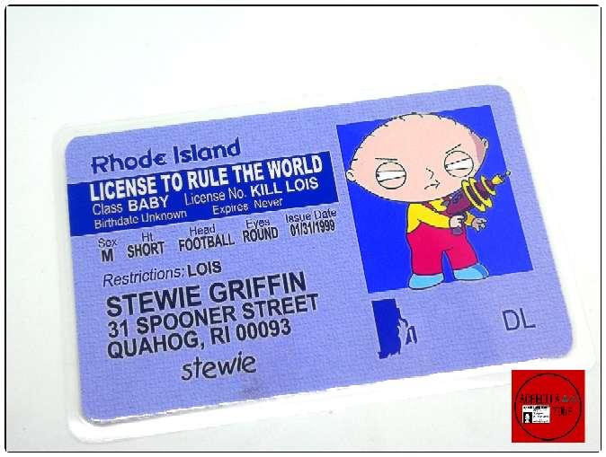 Imagen producto Acreditación de Peter Griffin de la serie Padre de familia  3