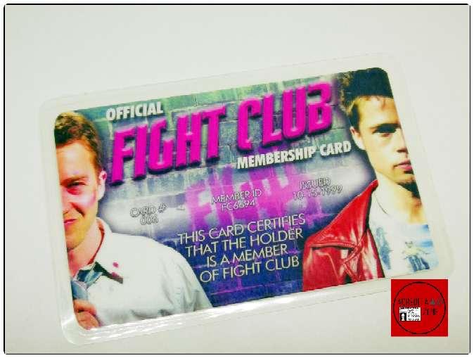 Imagen Carnet de miembro Del Club De La Lucha, Brad Pitt, Norton.