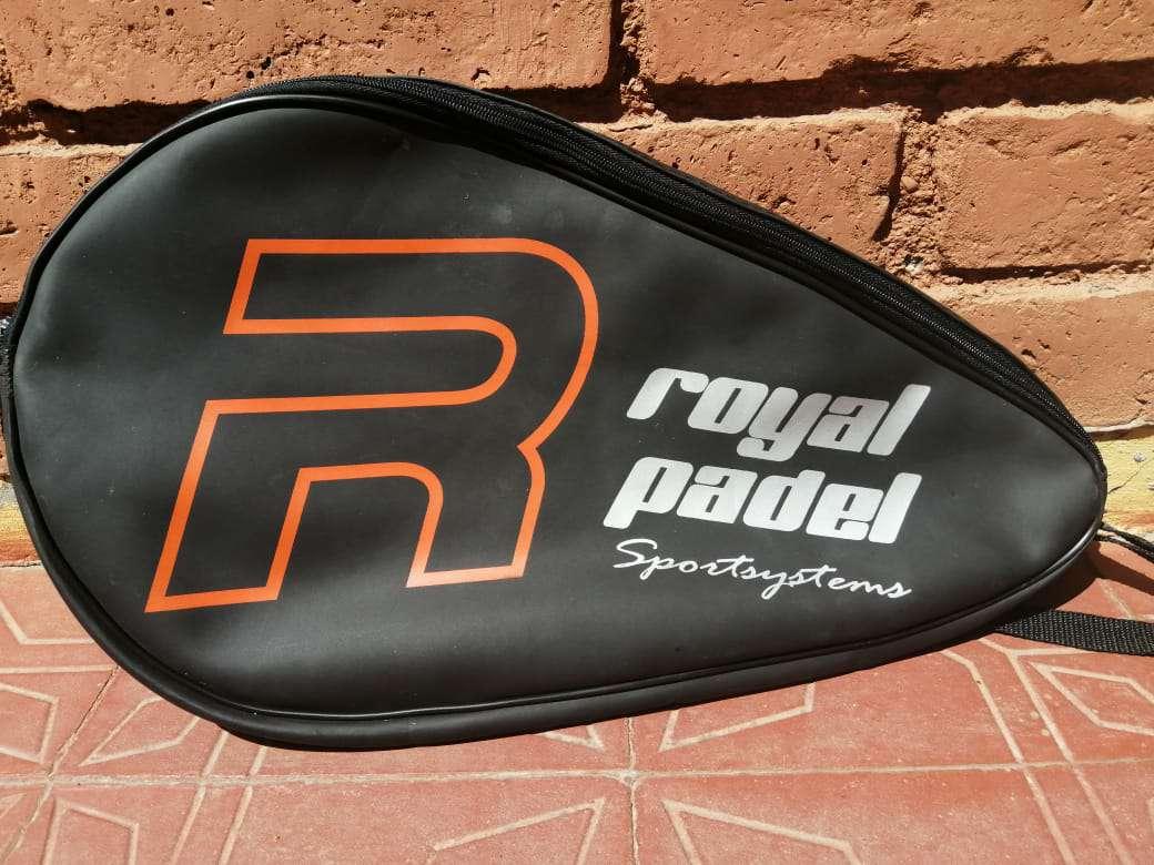 Imagen bolso paletero top force + funda para paleta de paddle royal