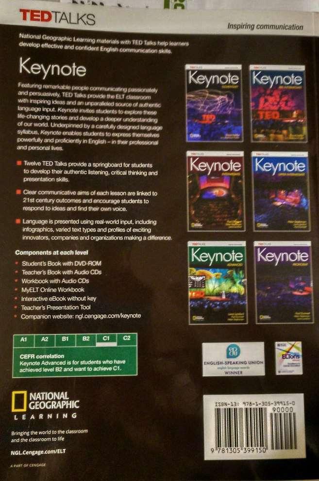 Imagen producto Keynote Advance student's book C1 (Nuevo) 3