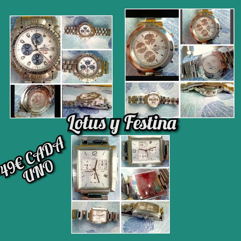 Imagen Relojes Lotus, Festina y D&G