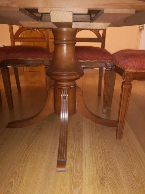 Imagen Mesa redonda extensible y 6 sillas