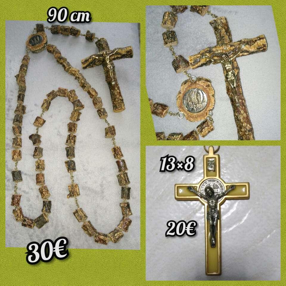 Imagen Cruz y rosario , vírgenes...