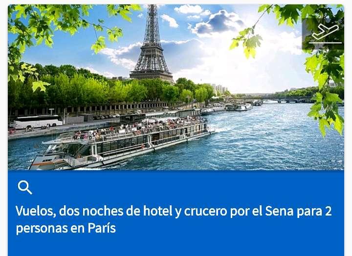 Imagen viaje a París para dos personas con vuelo de ida y vuelta y 2 noches de hotel+ un viaje de crucero por el Sena todo incluido 240.eu