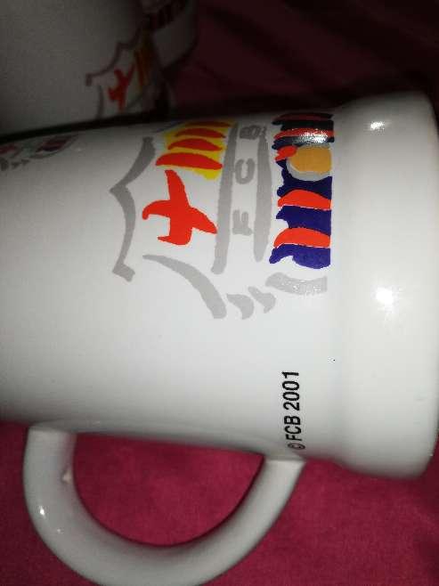 Imagen producto Juego de tazas de fútbol equipo Barcelona 2001  3