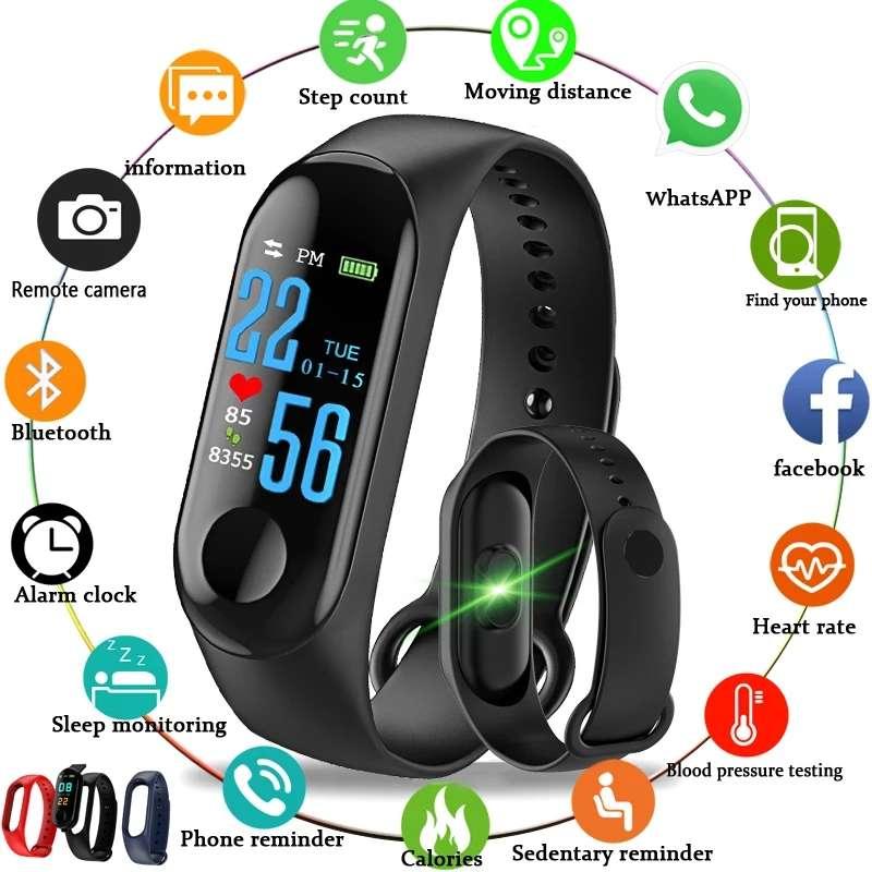 Imagen Smart band M3 reloj inteligente ritmo cardiaco pulsómetro aviso de llamadas notificaciones etc SOMOS TIENDA