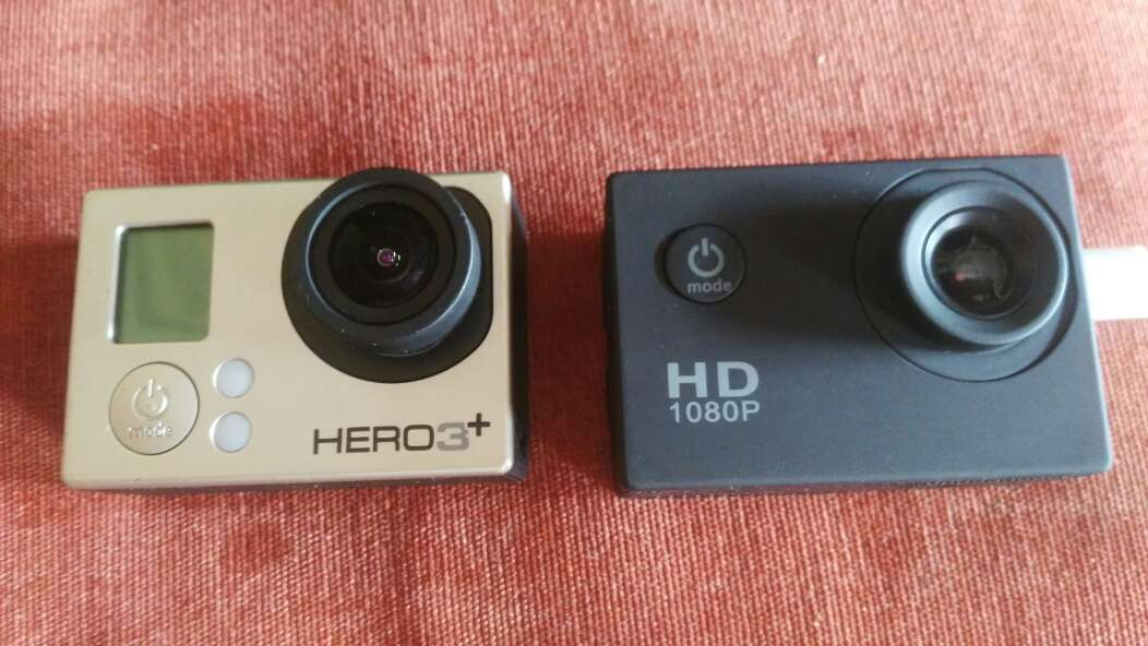 Imagen gopro héroe 3+ y cámara deportiva