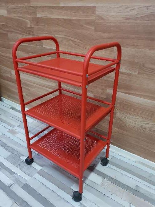 Imagen producto Carrito auxiliar con ruedas rojo 1