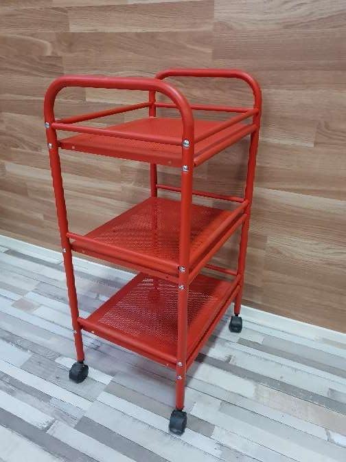 Imagen producto Carrito auxiliar con ruedas rojo 4