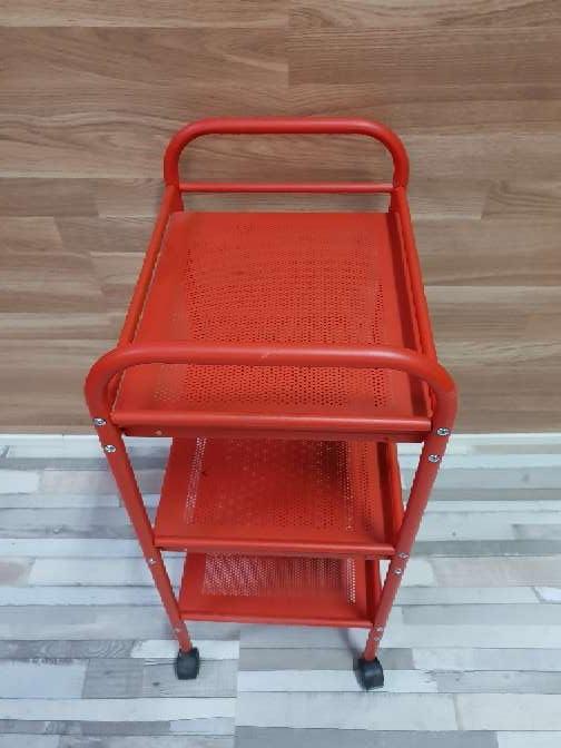 Imagen producto Carrito auxiliar con ruedas rojo 2