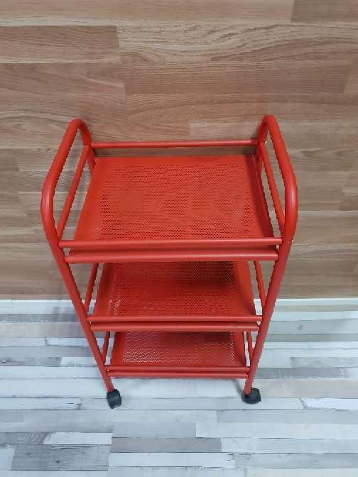 Imagen producto Carrito auxiliar con ruedas rojo 3