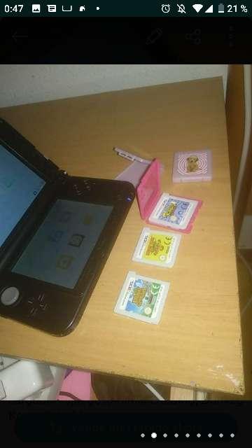 Imagen producto 3DS XL azul +3 juegos+funda+Cargador 2