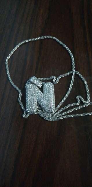 Imagen producto Collar estilo hip hop con la letra N 2