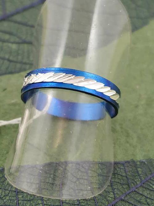 Imagen anillo azul p. envío gratis.