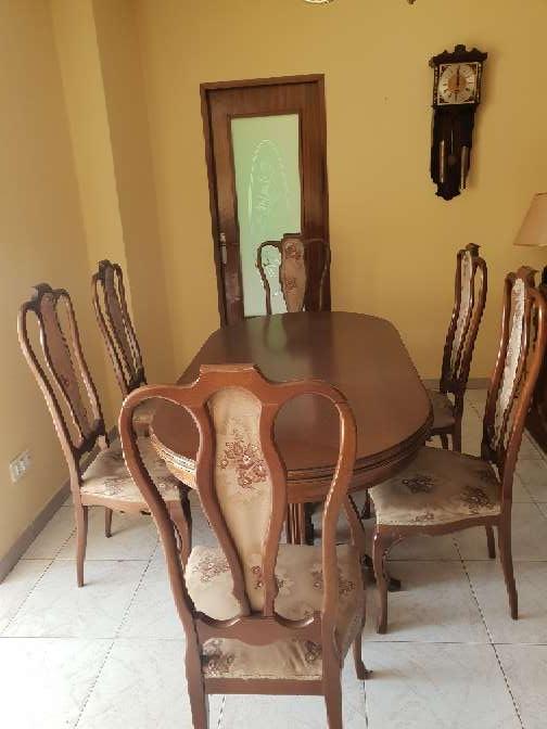 Imagen Mesa extensible y seis sillas