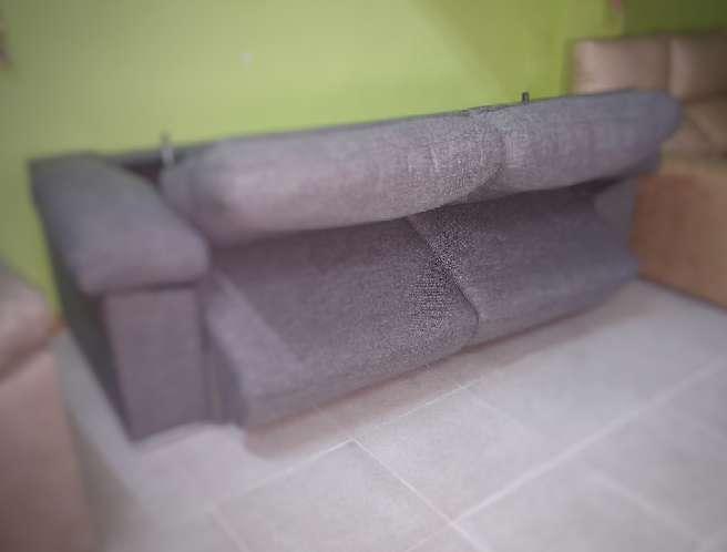 Imagen producto Sofa cama italiano antimanchas gris 4