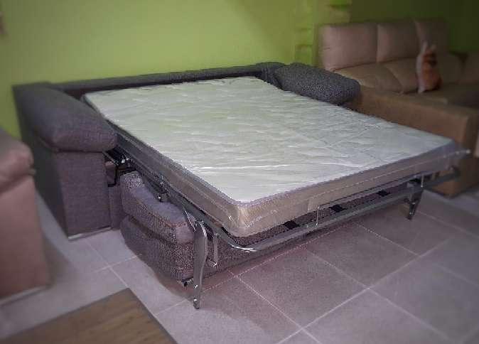 Imagen producto Sofa cama italiano antimanchas gris 5