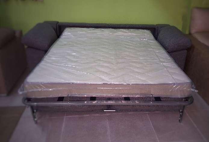 Imagen producto Sofa cama italiano antimanchas gris 6