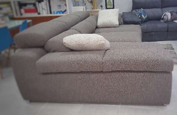 Imagen producto Sofa chaiselongue cama antimanchas chocolate 3