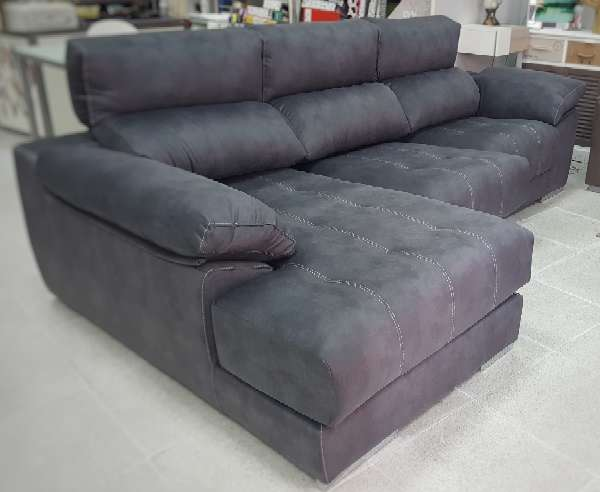 Imagen producto Sofa viscolastico antimanchas antracita 2